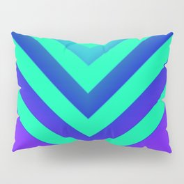 Cyan & Violet Chevron Pillow Sham