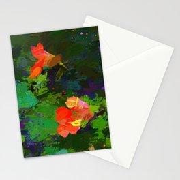 Nasturtiums in the garden Stationery Cards
