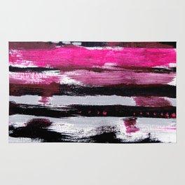 Pink & Black Rug