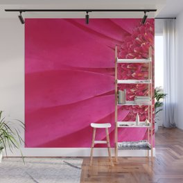 Pink Sunburst Wall Mural