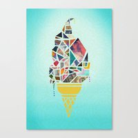 icecream Canvas Prints featuring icecream by StraySheep