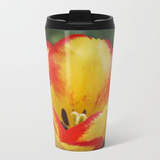 Tulip - Yellow&Red Metal Travel Mug
