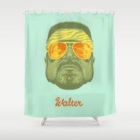 lebowski Shower Curtains featuring The Lebowski Series: Walter by Bubblegun
