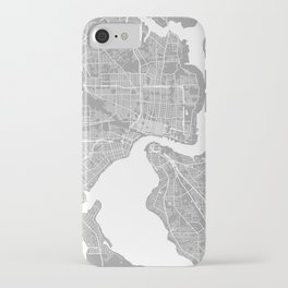 Jacksonville map grey iPhone Case