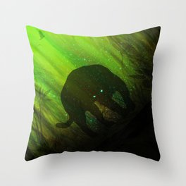 Black Panther Silhouette Throw Pillow