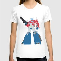transformers T-shirts featuring Transformers G1 - Optimus Prime by TracingHorses