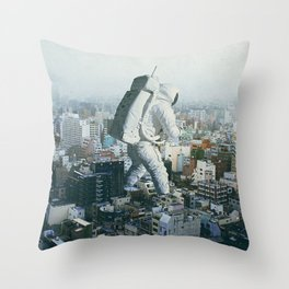 Stepping On Throw Pillow