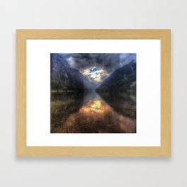 The beautful views Framed Art Print