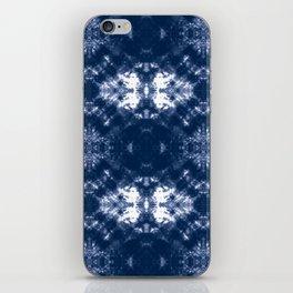 Shibori Tie Dye 1 Indigo Blue iPhone Skin
