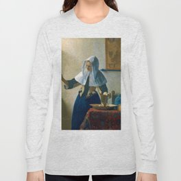 """Johannes Vermeer """"Young Woman with a Water Pitcher"""" Long Sleeve T-shirt"""