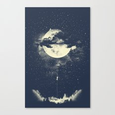 MOON CLIMBING Canvas Print