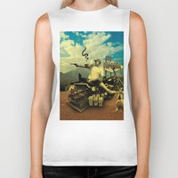 hunter s thompson Biker Tanks featuring Hunter S by mattdunne