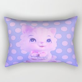 Polka dot kitty  Rectangular Pillow