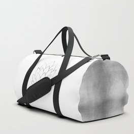 Silver Foil Lotus Flower Duffle Bag