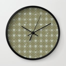 The Nik-Nak Bros. Durdy Gold Wall Clock