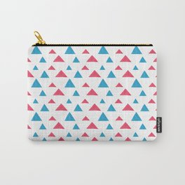 Tribal hand painted blue bright pink watercolor pattern Carry-All Pouch