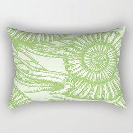 AMMONITE COLLECTION GREEN Rectangular Pillow
