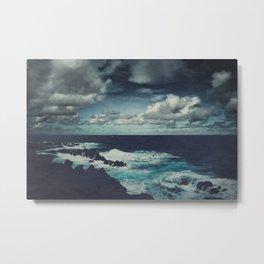 Wild Atlantic Ocean Madeira Metal Print