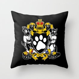 Pup Crest Throw Pillow
