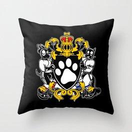 Pup Crest Throw Pillow