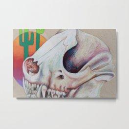 Gobi Desert Skull Metal Print