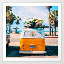 Van — Surf, Beach Art Print