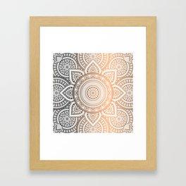 Gold Bronze Mandala Pattern Illustration Framed Art Print