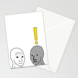 NPC Wojak Meme Stationery Cards