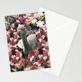 Cute Floral Alpaca Flower Stationery Cards