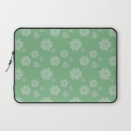 Green Succulent Rosettes Organic Pattern - Floral Line Drawing Laptop Sleeve
