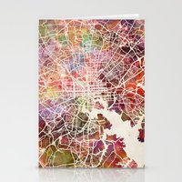 baltimore Stationery Cards featuring Baltimore map by MapMapMaps.Watercolors
