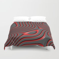 Organic Abstract 01 RED Duvet Cover