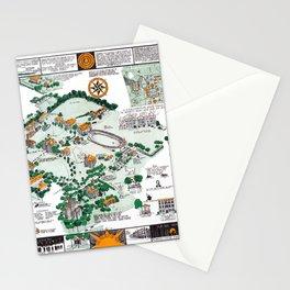 SYRACUSE campus map NEW YORK dorm decor graduate Stationery Cards
