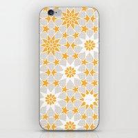 pivot iPhone & iPod Skins featuring Pivot Star Pattern  by Pivot Interiors