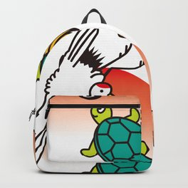 Crane and turtle Backpack