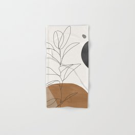 Abstract Art /Minimal Plant Hand & Bath Towel