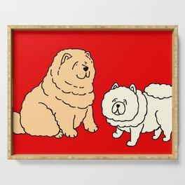 Chow Chow Dog Couple Serving Tray