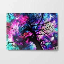 Starfield Tree Metal Print