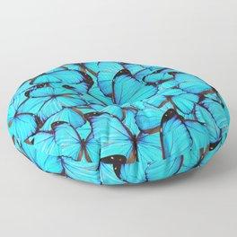 Blue Butterflies Floor Pillow