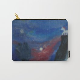 Unicorn In The Moonlite Carry-All Pouch