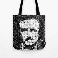 poe Tote Bags featuring Poe by Artstiles