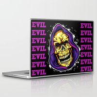 evil Laptop & iPad Skins featuring EVIL by DesecrateART (Infected)