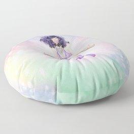 heure de couleur - pourpre Floor Pillow