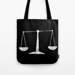 Chalkboard Scales Tote Bag