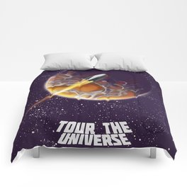 Tour the Universe - Sci fi poster Comforters