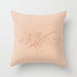 rosy mantle Throw Pillow