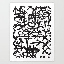Graffiti Pattern Art Print