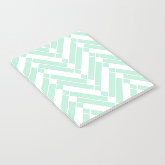 Chevron pattern - light green Notebook