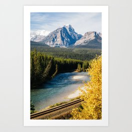 Railroad Tracks on Icefields Parkway Art Print