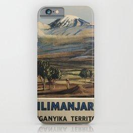 vintage Kilimanjaro voyage poster iPhone Case